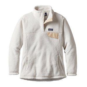 Women's Medium White Patagonia Fleece
